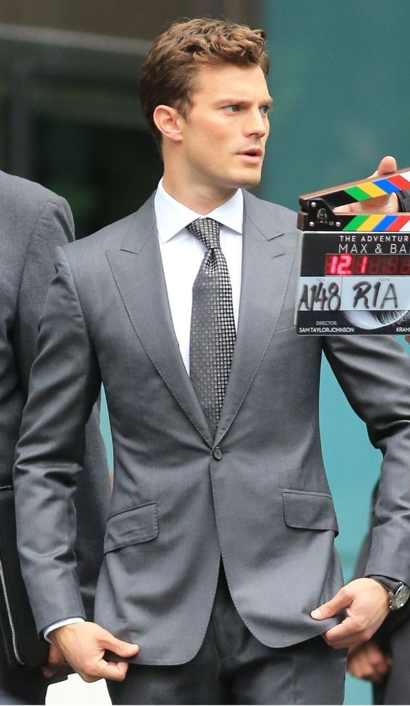 nice tie mr grey fsog teaser reshoots same tie on christian grey greyhousefansite. Black Bedroom Furniture Sets. Home Design Ideas