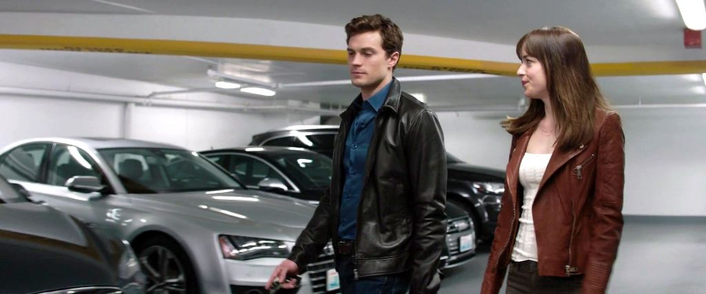 EXCLUSIVE FSOG MOVIE INSIDE ESCALA GARAGE JAMESON HOUSE - Audi car in 50 shades of grey