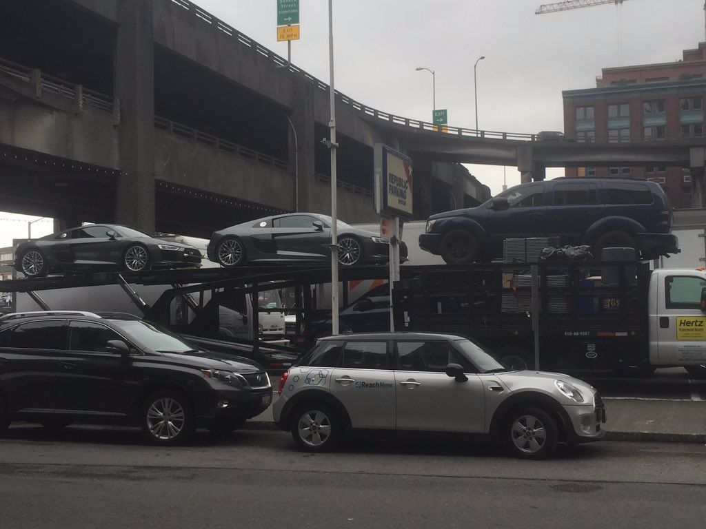 FS FREED Car Filming In Seattle May Part SHADES - Audi car 50 shades freed