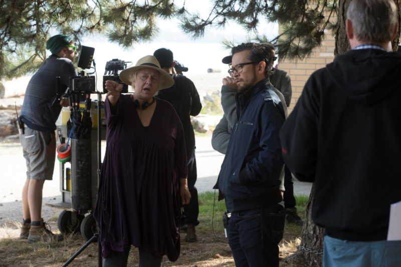 the-romeo-section-l-r-director-anne-wheeler-talks-with-director-of-photography-brendan-uegama_photo-by-jeff-weddell