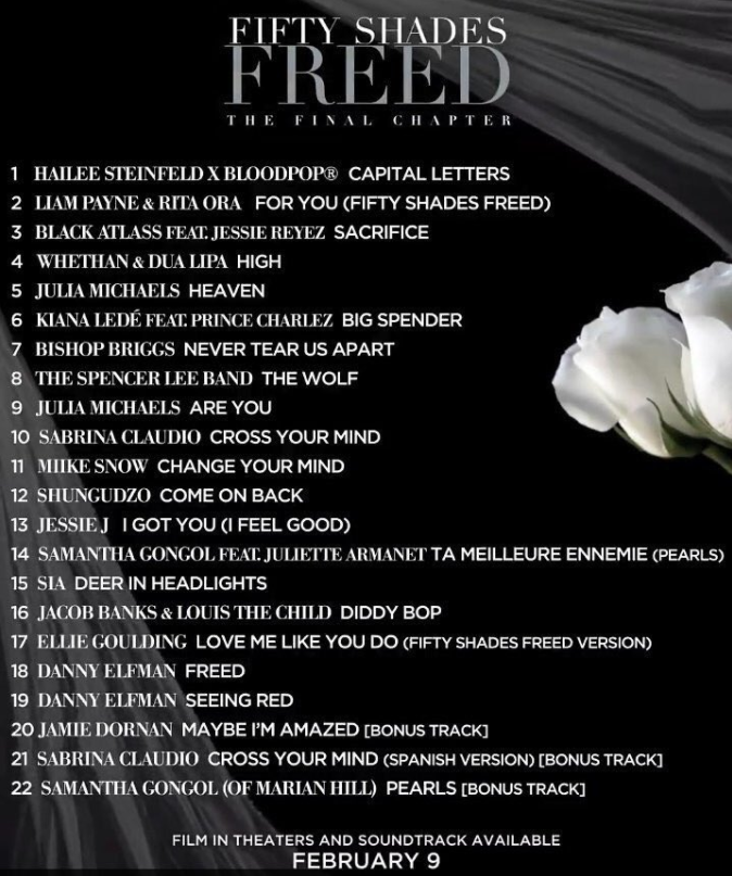 Fifty Shades Freed New Soundtrack 50 Shades Girl Portland