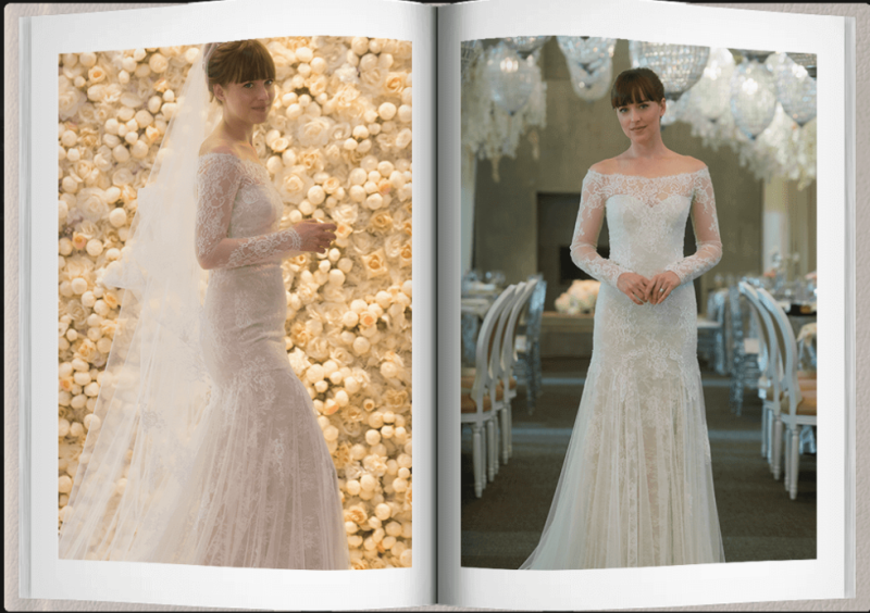4fab7930df Fifty Shades Freed Ana and Christian Wedding Album and Videos – 50 ...