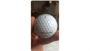 click to send  Jamie Dornan's Golf Ball to Fans Worldwide!